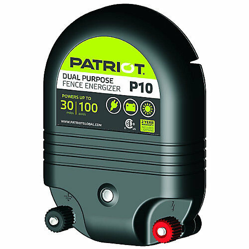 Patriot P10 Dual Purpose Fence Energizer 1.0  Joule  online sale
