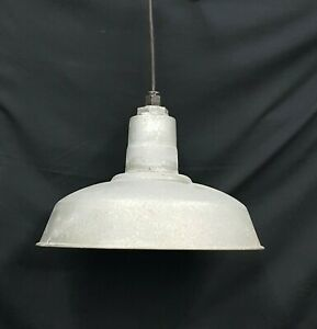 Details About Architectural Salvage Gray Galvanized Ceiling Light Fixture