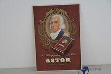 alte org. Werbe Schild Pappe Astor Zigaretten