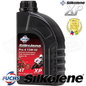 Silkolene-PRO-4-15w-50-Completo-Bicicleta-ester-sintetico-4T-Aceite-del-Motor-1-litros