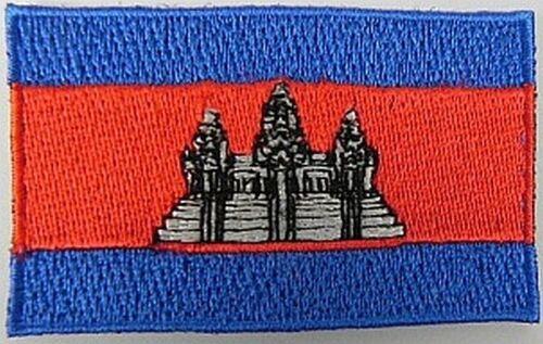 Kambodscha Aufnäher gestickt,Flagge Fahne,Patch,Aufbügler,6,5cm,neu