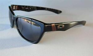 oakley jupiter lx sunglasses black frame grey lenses new