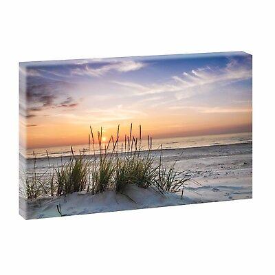 Sonnenuntergang Bild Strand Meer Wandbild Leinwand Poster Deko 150 cm*50 cm 728