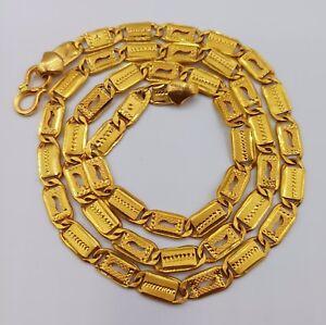 22K-GOLD-HANDMADE-CHAIN-NECKLACE-STRAND-FINE-JEWELRY-NAWABI-DESIGN-PATTERN