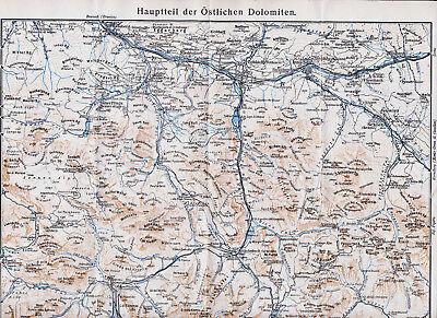 Der GüNstigste Preis Dolomiten Ost 1939 Orig. Landkarte Toblach Cortina Sesto San-vito Schluderbach Keine Kostenlosen Kosten Zu Irgendeinem Preis
