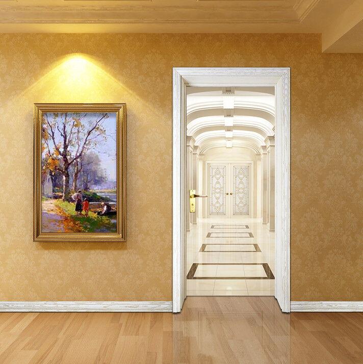 3D Korridor 74 Tür Wandmalerei Wandaufkleber Aufkleber AJ WALLPAPER DE Kyra