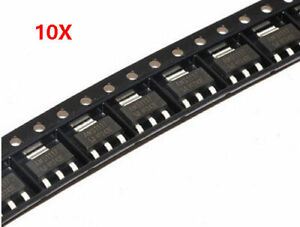 10PCS-AMS1117-5-0-AMS1117-LM1117-5V-1A-SOT-223-Voltage-Regulator-IC-NEW
