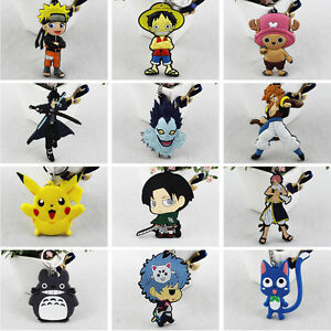 Anime-Fans-Cute-Pinched-PVC-Keychain-Cartoon-Keyring-Death-Note-Fairy-Tail-Gift