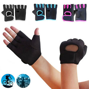 Sport-Fitness-Cycling-Gym-Half-Finger-Weightlifting-Gloves-Training-Workout-New