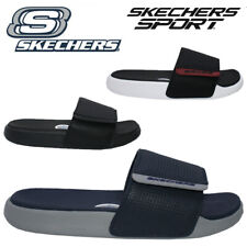 MENS SKECHERS SPORTS BEACH HOLIDAY SHOWER SLIDERS GYM FLIP FLOPS MULES SANDALS