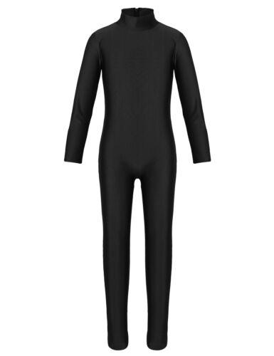 Girls Gymnastics Leotard Kids Ballet Full Body Suit Jumpsuit Costume Dance Wear