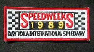 SPEEDWEEKS-1989-DAYTONA-PATCH-NASCAR-RACING-FLAG-COLLECTIBLE-4-1-2-034-x-1-3-4-034