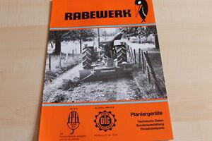 144471) Rabewerk Planiergeräte Prospekt 06/1979