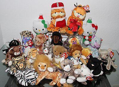 #11 Ty -beanie Baby Beanies (peluche) Gatto Gatti Scimmia Garfield Hello Kit Ty