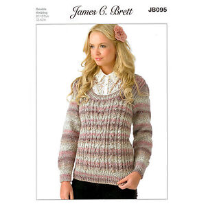 b05752b00 Jumper JB095 Knitting Pattern James C Brett Marble DK 5060019099346 ...
