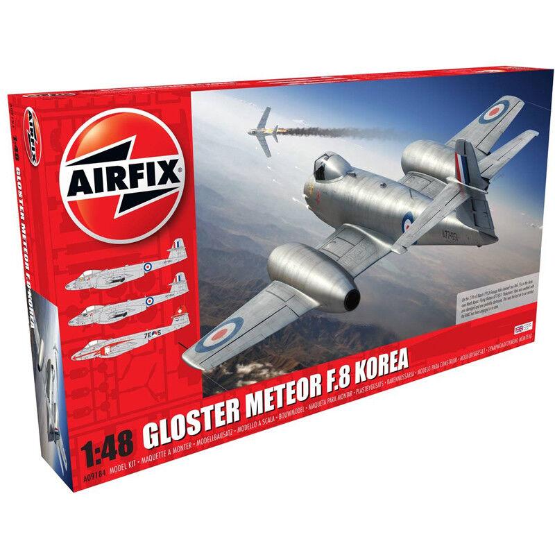Airfix Gloster Meteor F.8 (Koreanskt krig) (skala 1 48) F örlaga Kit A009184 NY