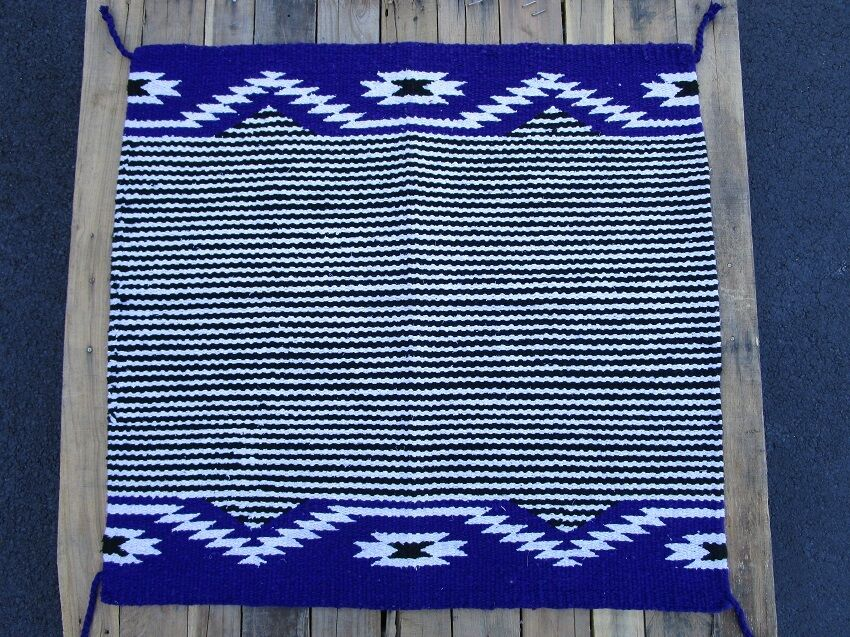 WESTERN SHOW SADDLE BLANKET PAD BARREL RACER ROPING HORSE TRAIL PURPLE AREA RUGS