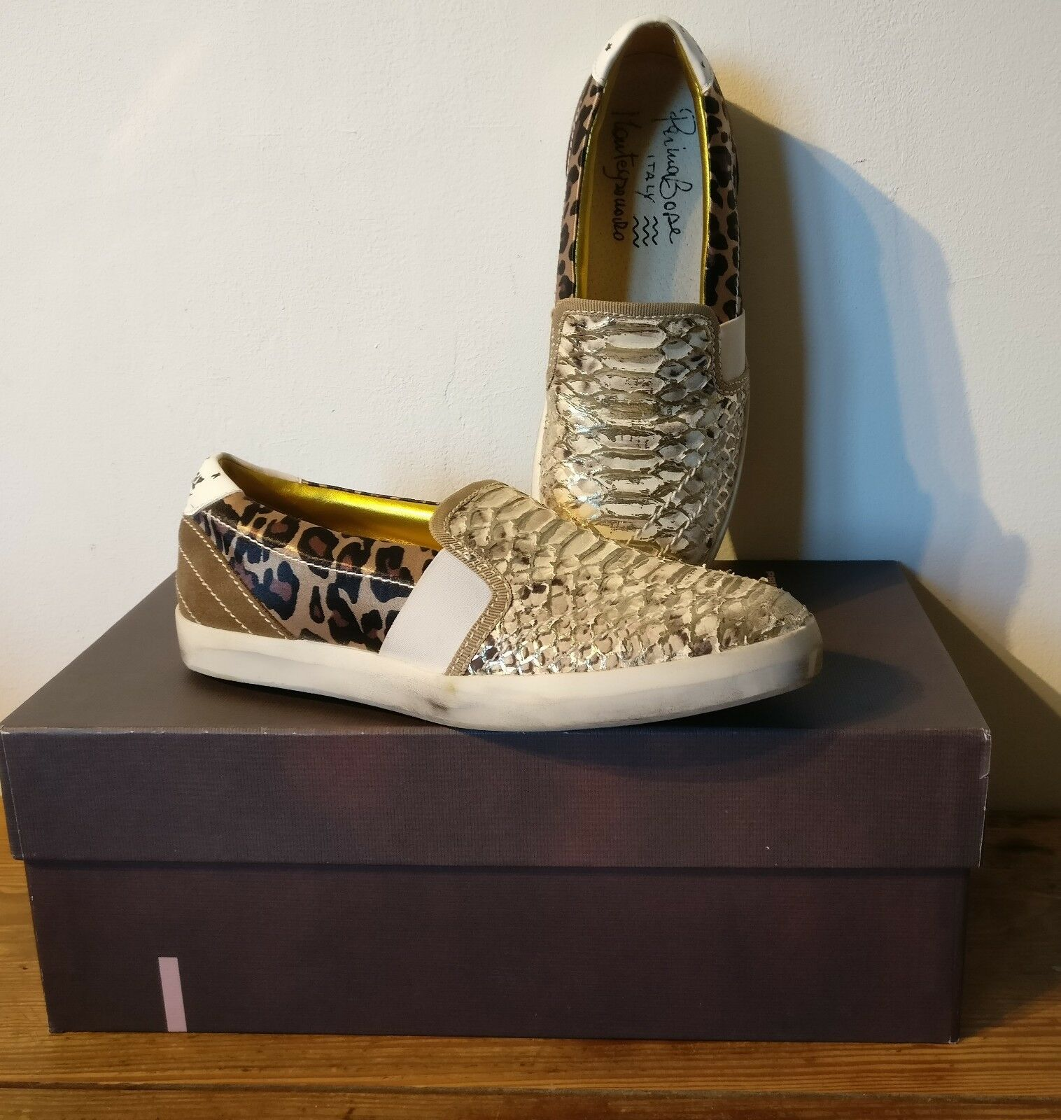Primabase    leather sneakers, new in box   size 37