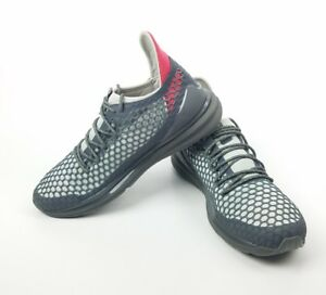 08c49f9be359 Puma Ignite Limitless Netfit Staple Mens Gray Textile Lace Up Shoes ...
