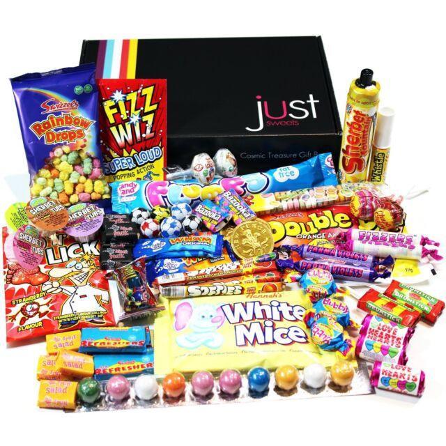Retro Sweets Gift Box Gift Present Hamper Double Dip Bubble Gum Chews