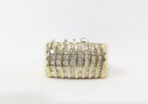 (RI4) Men's 10K Yellow gold Diamond Ring -  sz. 9 - 7.9 g - .48 TCW