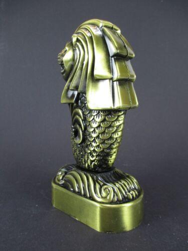 Merlion Brunnen Singapur Singapore Souvenir Metall Modell bronziert 16 cm Neu