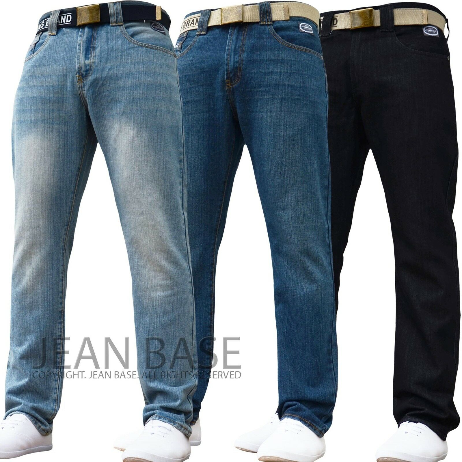 BNWT NEW MENS DESIGNER BRANDED SLIM FIT JEANS PANTS ALL WAIST ...