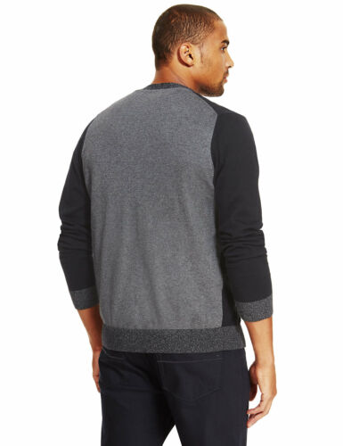 Marks /& spencer homme col v couleur bloc cardigan new m/&s doux mailles fines Cardie