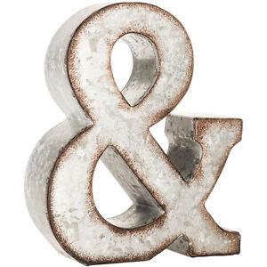 """Galvanized Letter U New 7"""" Galvanized Letter Abcdefghijklmnopqrst"""