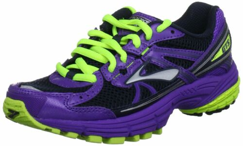 Kid/'s Running Shoe Mult Brooks Adrenaline GTS 13 Neon Green//Purple Sizes