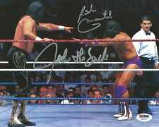 Rick Martel & Jake the Snake Roberts Signed WWE 8x10 Photo PSA/DNA Wrestlemania
