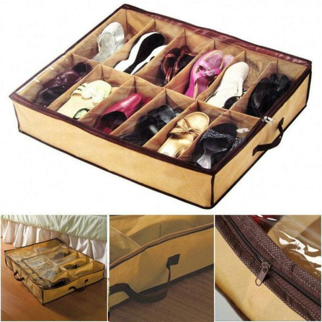 Container Under Bed Shoe Closet Box