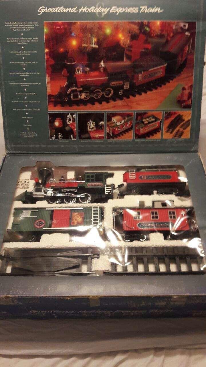1993 Greatland Holiday Express Train Set w Box-Holiday Christmas train
