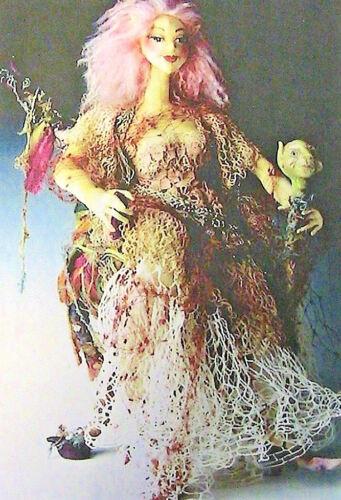 """FRANCES LIZ~MARY BELLE /& TEDDY BOB~Patti Culea 15/"""" *RARE cloth art doll pattern"""