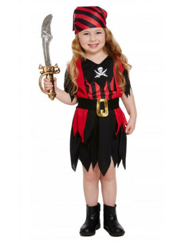 Girls Age 3 yr Toddler Pirate Costume Child Kids Book Week Fancy Dress Caribbean