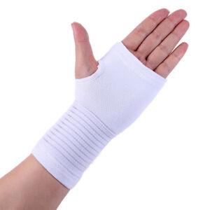 Handgelenkbandage-Handbandage-Handgelenkstuetze-Karpaltunnelsyndrom-Guertel-Weiss