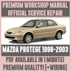 Workshop Manual Service Repair Guide For Mazda Protege 1998 2003 Wiring Ebay