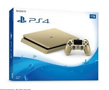 Gold Sony PS4 Slim LIMITED Edition Console Brand New - 1 TB Playstation 4