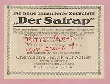 BERLIN, Werbung 1925 Chem Fabrik vorm E Schering illustrierte Zeitschrift SATRAP