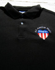 BLUEGRASS All American Music LARGE POLO SHIRT