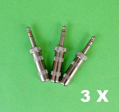 aus Metall Stecker 3,5 // Klinken Kupplung 6,3m 10x Kopfhöreradapter Klinke