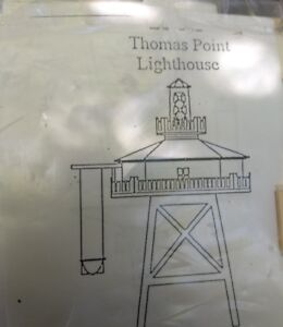Laser-Tech-Thomas-Point-Lighthouse-Dollhouse-Miniature-1-12th-or-1-144-Scale