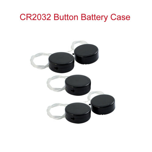 CR2032 Coin Cell Button Battery Holder Case Socket With Toggle Switch With Cable