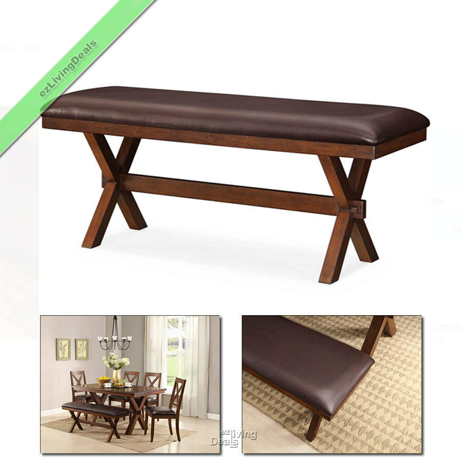 Fine Details About Dining Bench Farmhouse Wood Kitchen Room Country Maddox Padded 1 Pc Espresso Ibusinesslaw Wood Chair Design Ideas Ibusinesslaworg