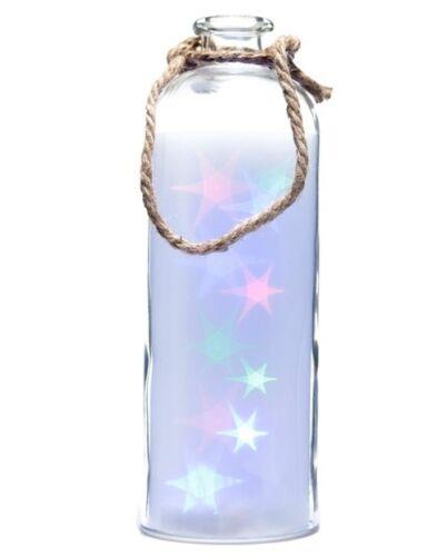 Großes LED Glas Sterne Glas Flaschenlicht Nachtlicht Laterne Terrasse 31,5 cm