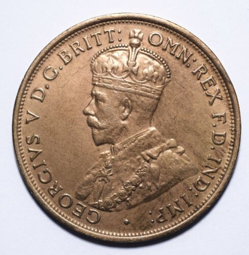 George V 1914 Australia One 1 Penny - Lot 151 Key Date // High Grade