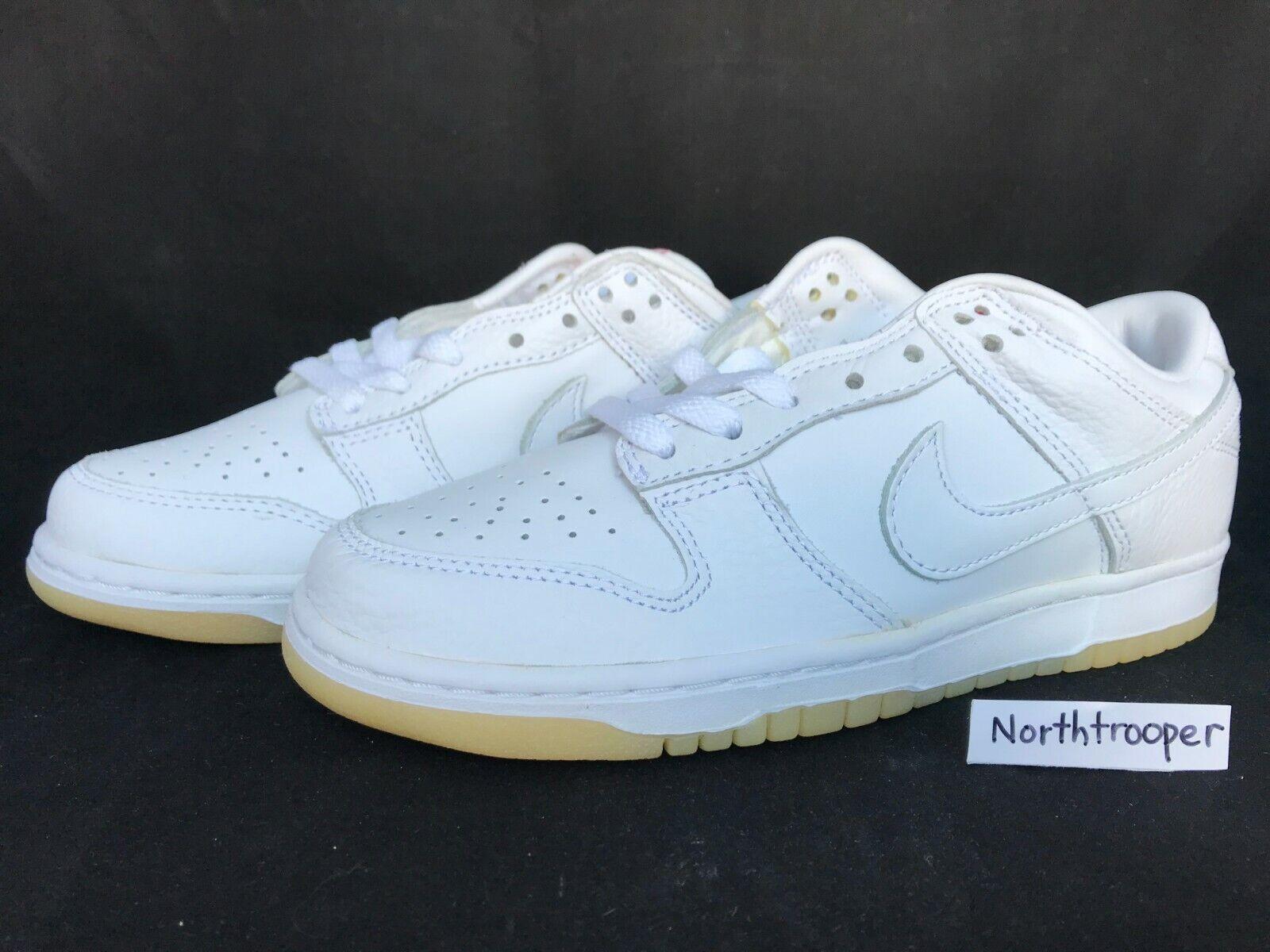 Nike Dunk Low (LTD) White White-Sport Red 307734-111 Sz7 NIB