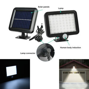 2x56LED-Lampe-Solaire-Projecteur-Lumiere-Jardin-Exterieur-Detecteur-de-Mouvement