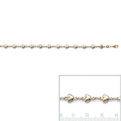 Bracelet FEMME COEUR LOVE AMOUR  plaqué OR 18 cm NEUF BijouterieJOLYBIJOUX