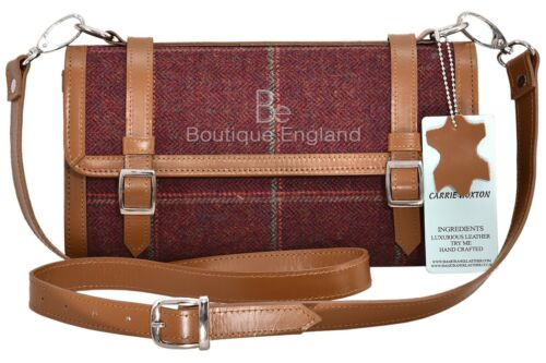 Ladies Travel Stripes Cherry Body Tweed Fashion Bag Leather Real Cross Strong Uxqvntg